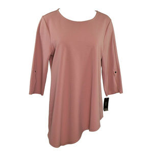 Alfani Top Pointed Hem Color Winter Rose XL New